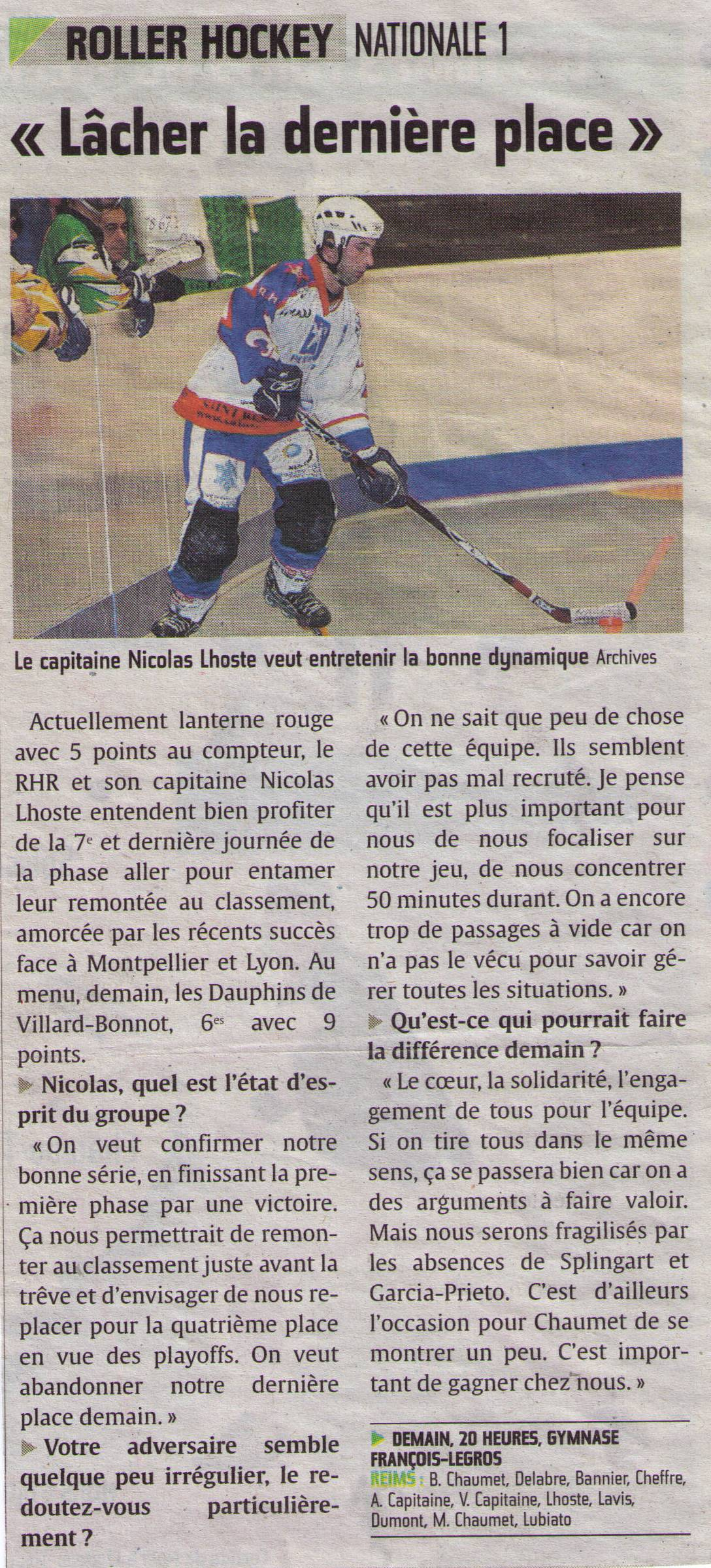 2013-12-06 - N1 RHR vs VILLARD-BONNOT