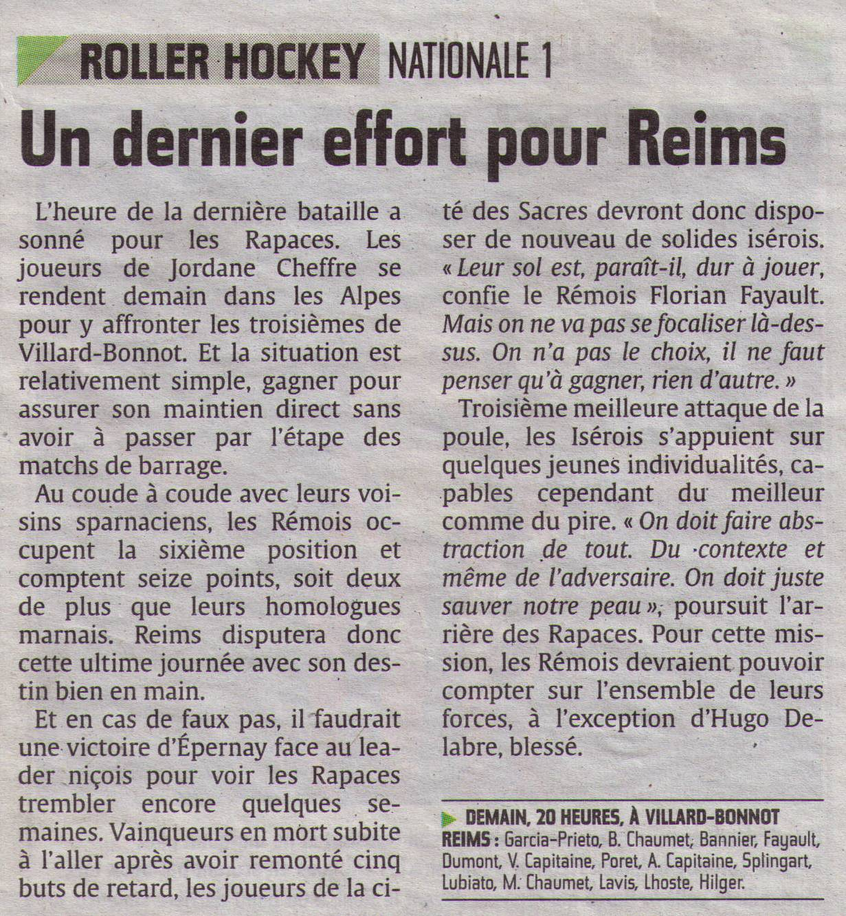 2014-03-28 - N1 VILLARD-BONNOT vs RHR