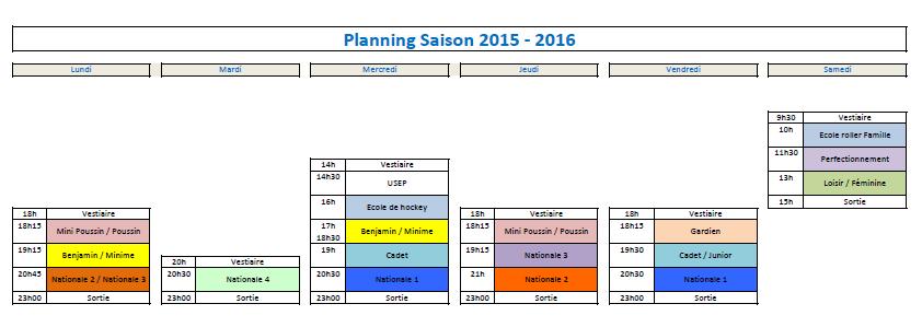 Planning Prévisionnel 2015 2016