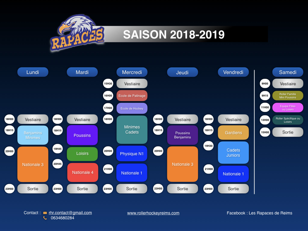 Planning entrainements (+loisirs) RHR 2018-2019 -V3