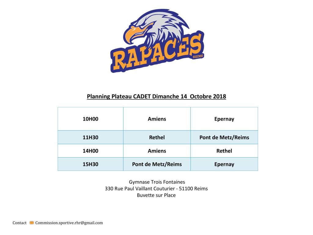 Planning Plateau RHR 2018-2019