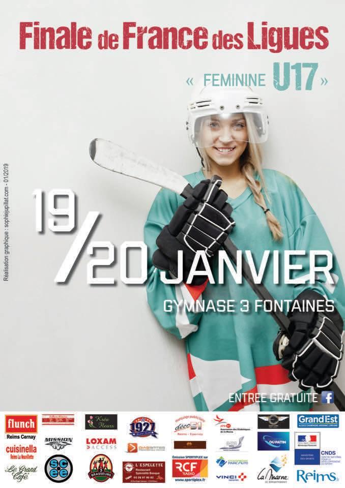 Affiche finale coupe de ligue Féminines 2019