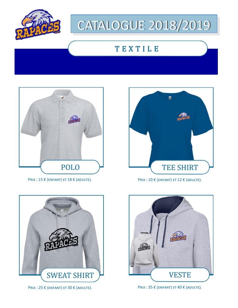 catalogue textile et accessoires 2018-2019- 1