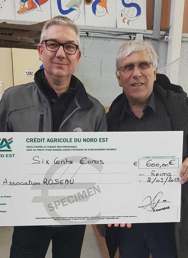 remise chèque Ass° Le Roseau Fev 2019