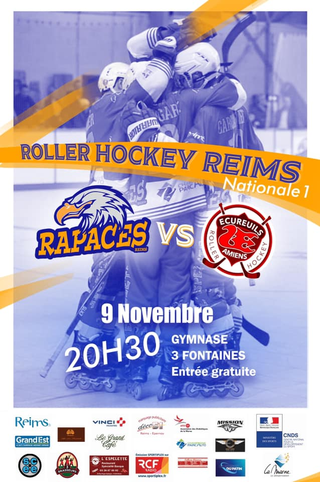 affiche N1 match RHR vs Amiens du 9 nov 2019